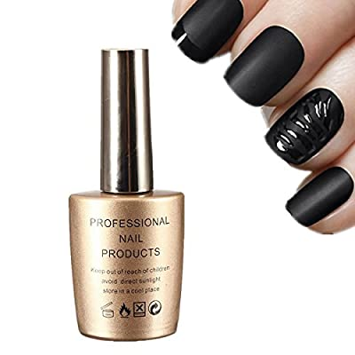 Goldenssy 15ml Super Matte Effect Topcoat Pro for Gel UV Metallic White Transparent Nail Art Polish Tool