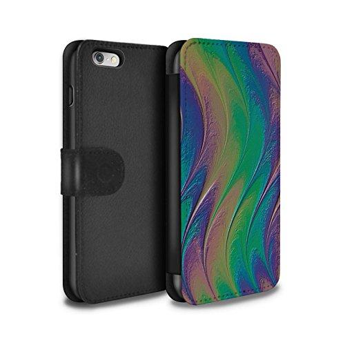 STUFF4 PU-Leder Hülle/Case/Tasche/Cover für Apple iPhone 6+/Plus 5.5 / Pop Art Partei Muster / Modern Lebendig Kollektion Regenbogen/Perle