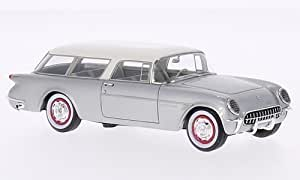 Chevrolet Corvette Nomad, argenté/blanche, 1954, voiture miniature, Miniature déjà montée, Neo 1:43