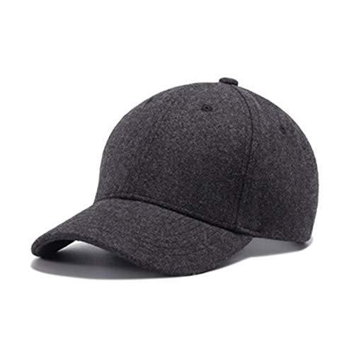 Yosrab Cap Hüte Für Männer Schwarz Winter Baseball Caps Hip Hop Filz Warme Mütze Jungen Einstellbare Kappe