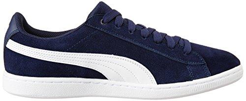 Puma Vikky, Baskets mode Femme Bleu (Peacoat/White 04)