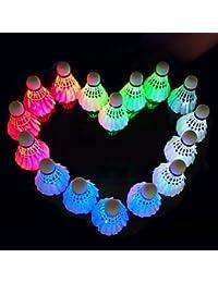 YAOHM Volantes de Pluma de Ganso 4 / Espuma plástica Estabilidad/Iluminación/Resplandor en la Oscuridad bádminton
