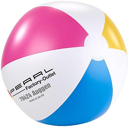 PEARL Aufblasbarer Ball: Aufblasbarer Wasserball, mehrfarbig, 33 cm Ø (Aufblasbarer Ball für Sommer, Strand, Urlaub, Pool, Freizeit, Wasserspaß, Schwimmbad)