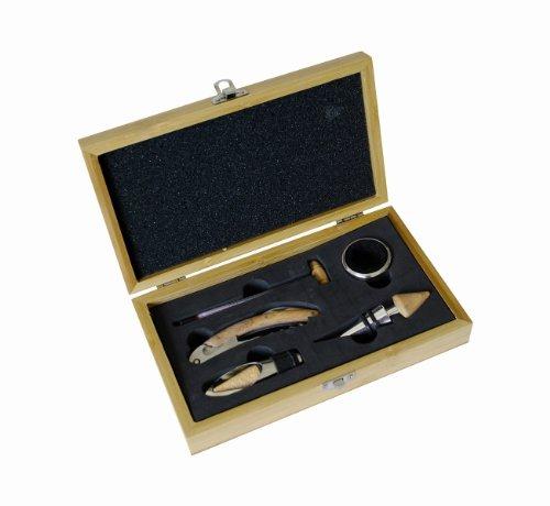 Pradel Excellence RT802H Korkenzieher in Sommelier-Box aus Bambus für 1 Flasche mit 4 Accessoires