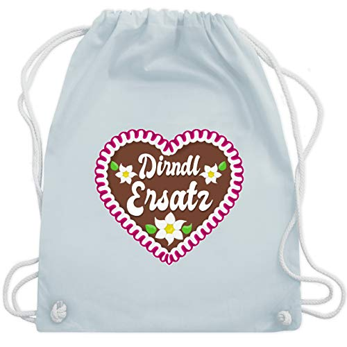 Oktoberfest Kind - Dirndl Ersatz mit Lebkuchen - Unisize - Pastell Blau - WM110 - Turnbeutel & Gym Bag