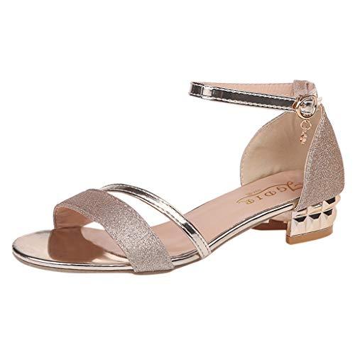 Scarpe da donna con bassi comode sandali da viaggio per spiaggia e estate ragazza sandali donna estivi sexy punta aperta donna sandali moda donna caviglia tacco medio blocco partito aperto toe scarpe