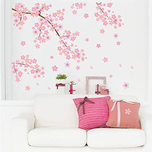 Pegatinas pared Rosa Flores cerezo Árbol Romántico