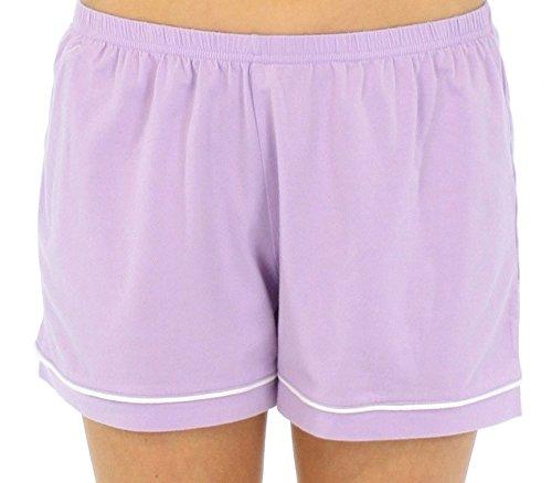 Sleepyheads Ensemble de pyjama femme à manches courtes et short jersey extensible Violet