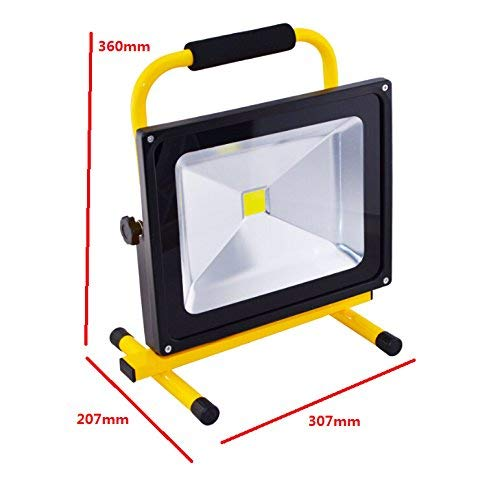 SLPRO Akku Baustrahler 50W Arbeitslampe Handlampe Arbeitsleuchte Scheinwerfer 4500 Lumen GELB