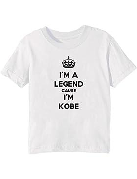 I'm A Legend Cause I'm Kobe Bambini Unisex Ragazzi Ragazze T-Shirt Maglietta Bianco Maniche Corte Tutti Dimensioni...