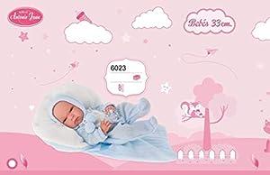 Antonio Juan- MUÑECO Baby TONET Invierno 33 CM con Saco Y Tacto Especial, (6023)