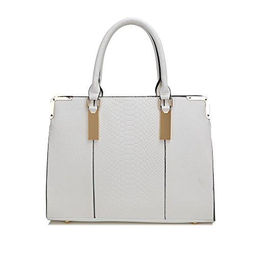 HB Style, Borsa tote donna Multicolore Multicolore Bianco (bianco)