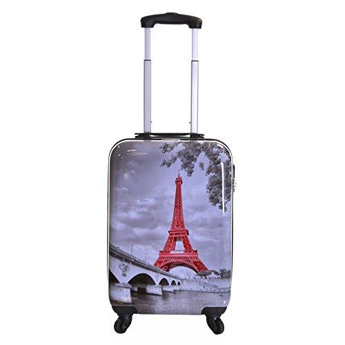 Karabar Falla 55 cm Maleta de 4 Ruedas, Torre Eiffel