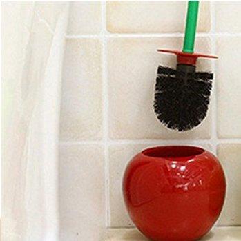 Mama Papa Cerise Forme Brosse WC Brosse WC en forme de pomme Accessoires quotidiens Brosse Vin Rouge 1pcs