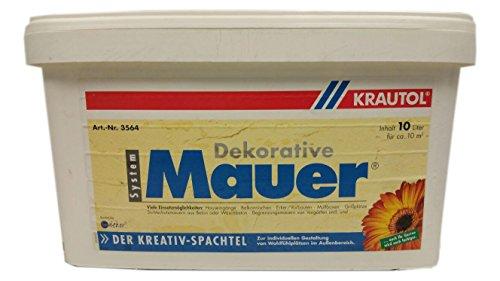 Preisvergleich Produktbild Krautol Kreativ Mauer Dekorative spachtel Weiß 10 Liter