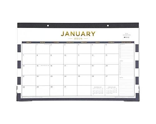 Tag Design für Blue Sky 2018Monatliche Schreibtischunterlage Kalender, 43,2x 27,9cm Navy Streifen