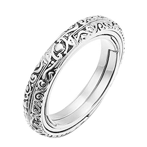 Metyere Astronomical Sphere Ball Ring Cosmic Finger Ring Circle Couple Lover Jewelry Gifts