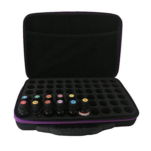 Öl Tasche Koffer Aufbewahrungsbox Reisetasche Kosmetische Aufbewahrungsbox kann 60 Flaschen 15ml wasserdicht und stoßfest Aroma Aufbewahrungsbox halten ()