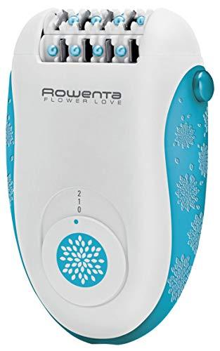 Rowenta Depiladora Flower Love Kit 3 en 1 - EP2853F0- 2 velocidades, 24 pinzas, Accesorio para depilación zona bikini con 2 peines, accesorio de pinzas con luzy bolsa de viaje