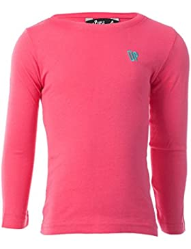 Camiseta de manga larga UP Basic rosa fucsia niña (2-8) (Talla: 6)