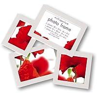 Innova PI01915 - Maggiore 8, cornice multipla per 4 foto in resina, colore: Bianco