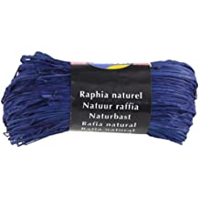 Clairefontaine 1960 - Rafia natural (50 g), color azul francia