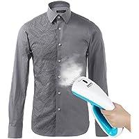 Merisny Plancha de vapor,plancha ropa vapor vertical 1000W, vapor de mano, rápido calentamiento en 25s, portátil de plancha vapor con cepillo de tela,para viaje y hogar.