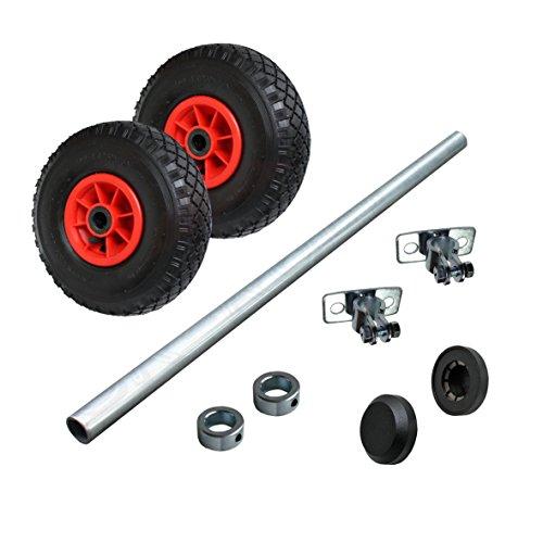 Wagenbau Satz Achse/Radsatz mit Luftrad 260mm WB260S3
