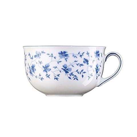 Arzberg Form 1382 Café-au-lait Cup, Breakfast Cup, Coffee Cup, Cafe au Lait Cup, Coffee Mug, Coffee Drinking Mug, Blue Flowers, Porcelain, 300 ml, 41382-607671-14852