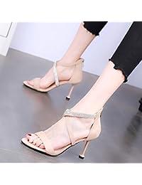 YMFIE Estate stiletto moda sexy openwork in vernice open toe sandali tacco alto da donna partito banchetto tacchi...