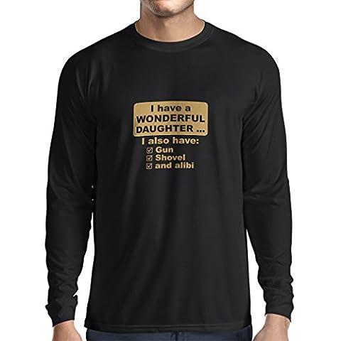 Calecon Homer - T-Shirt Manches Longues Homme J'ai une fille