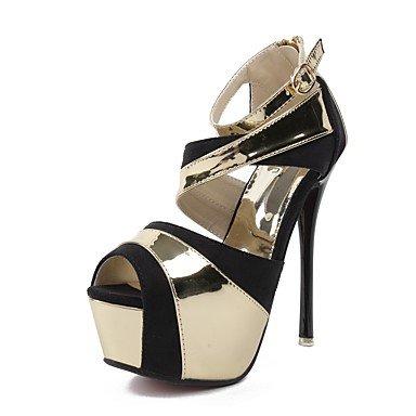 LvYuan Da donna-Sandali-Casual Serata e festa Formale-Suole leggere Club Shoes Comoda-A stiletto-Microfibra-Bianco Dorato White