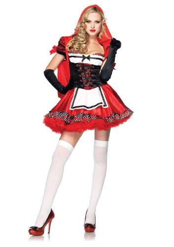 ivine Miss Red Rotkäppchen, Größe S, beige (Leg Avenue Kapuzen Kostüme)