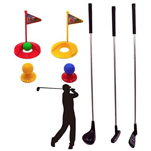 Yishelle-game Minigolf Spielzeug, Kunststoff Golf Clubs Pädagogisches Golf Spielzeug Sets Für Kleinkinder Kinder Robust & Mehrfarbig Indoor-Outdoor-Kinderspiel (Farbe, Größe : 77 * 16cm)