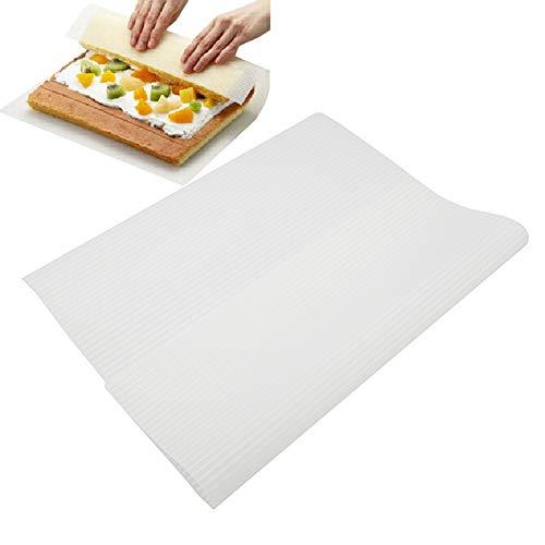 Silicone sushi roller mat, fai da te in stile giapponese rotolamento sushi maker raised grain gadgets cake roll sushi mat eco-friendly forno pad taglia libera white