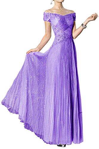 Toscana sposa alla moda spalla tulle un'ampia vestimento per una serata di festa ball vestimento Viola