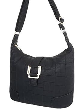 iTal-dEsiGn Damentasche Mittelgroße Schultertasche Handtasche In Used Optik Kunstleder TA-S2506