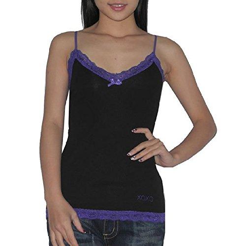 2 PACK: Damen XOXO Sexy BH ungepolstert Wireless Intimate Apparel Slim Fit Shirt -schwarz&grau (Gr??e: M) (Bh Xoxo)