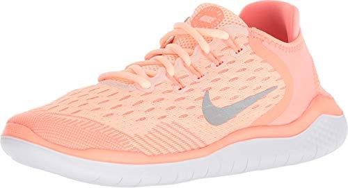 Nike Unisex-Kinder Free RN 2018 Laufschuhe, Rot korall/weiß, 38 EU - Nike Rot Jungen Sneakers