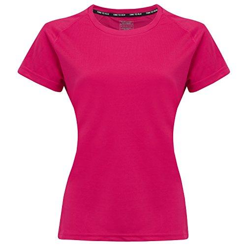 Time To Run Mujer Favourite Camiseta de Running/Gimnasio/Formación Manga Corta 40 Cerisa Rosa