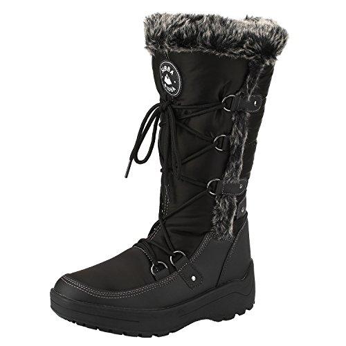 sibba-botas-de-nieve-mujer-botas-de-suela-acolchada-a-prueba-de-agua-39-negro