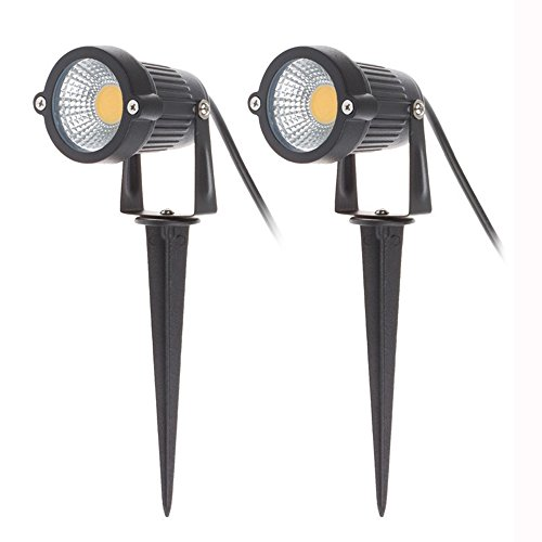 2 x Focos Proyector LED con Estaca Exterior Jardín IP65 COB 5W...