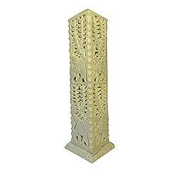 Räucherturm aus Speckstein quadratisch Räucherstäbchenhalter Räuchersäule Wohnaccessoire Raumduft Deko