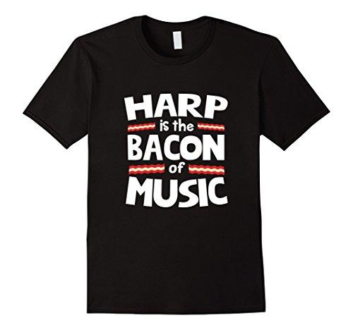 harp-is-the-bacon-of-music-funny-t-shirt-herren-grosse-2xl-schwarz
