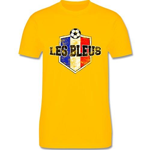 EM 2016 - Frankreich - Frankreich- Les Bleus Vintage - Herren Premium T-Shirt Gelb
