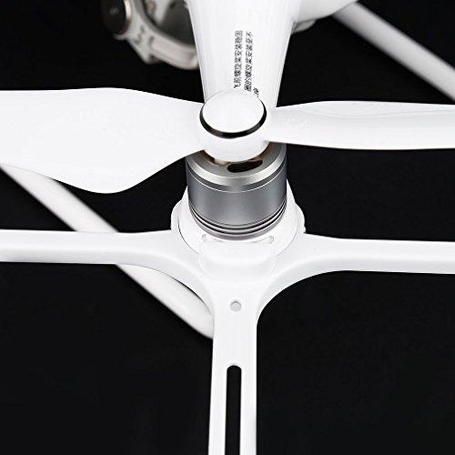 Anbee 4 Stücke Schnellspanner Propeller Schutz Körper Luftschraube Stoßstange Satz für DJI Phantom 4 Quadcopter, Weiß - 4