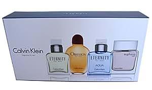 Calvin Klein Miniature Perfume Set for Men 4x15ml Eternity Obsession Euphoria