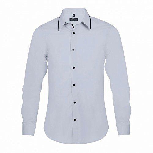 SOLS Baxter - Chemise ajustée à manches longues - Homme Blanc/Rayures noires
