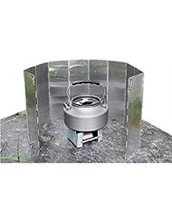 GADGETKING - Protector de Viento Plegable para Estufa de Gas de Acampada (10 Platos)