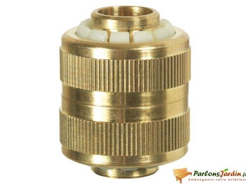 Raccord réparateur 100% laiton pour tuyau d'arrosage 19mm